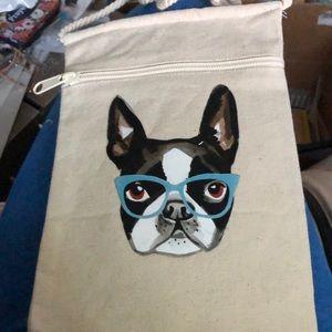 New Boston Terrier Canvas Crossbody Purse